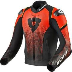 Rev'it! Jacket Quantum Black/Neon Red 50