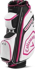 Callaway Chev 14+ Cart Bag White/Black/Pink 2020