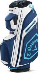 Callaway Chev 14+ Cart Bag White/Navy/Light Blue 2020
