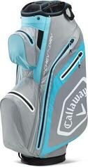 Callaway Chev Dry 14 Cart Bag Silver/Lite Blue/White 2020