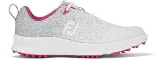 Footjoy Leisure Womens Golf Shoes Silver/White/Fuchsia