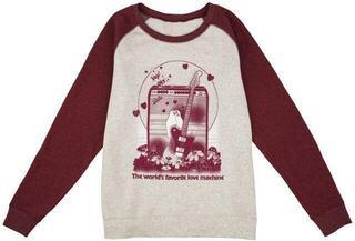 Fender Women's Love Sweatshirt Oatmeal and Maroon Maroon