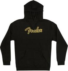 Fender Yellow Stitch Logo Hoodie Black XL