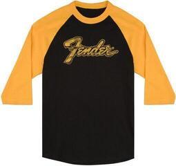 Fender Doodle 3/4 Sleeve Raglan Shirt Black and Yellow Black-Yellow