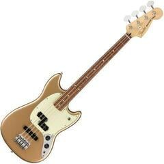 Fender Mustang PJ Bass Pau Ferro Firemist Gold