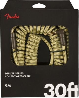 Fender Deluxe Coil Cable 30' Tweed