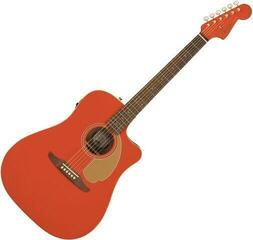 Fender Redondo Player Gold Hardware Fiesta Red