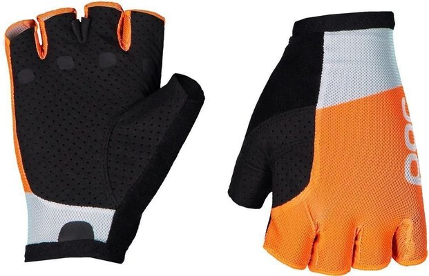 POC Essential Road Mesh Short Glove Granite Grey/Zink Orange XL