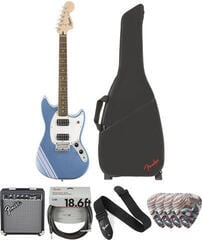 Fender Squier Bullet Competition Mustang HH IL Lake Placid Blue Deluxe SET