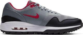 Nike Air Max 1G Mens Golf Shoes Particle Grey/University Red/Black/White