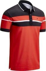 Callaway Shoulder & Chest Block Mens Polo Shirt High Risk Red L