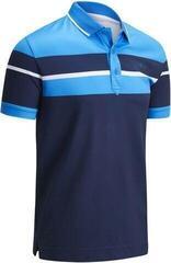 Callaway Shoulder & Chest Block Mens Polo Shirt Dress Blue