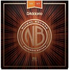 D'Addario NB1047 Nickel Bronze Acoustic Extra Light 10-47
