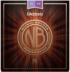 D'Addario NB1152 Nickel Bronze Acoustic Custom Light 11-52