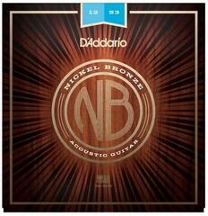 D'Addario NB1253 Nickel Bronze Acoustic Light 12-53