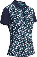 Callaway Mini 3 Color Floral Print Womens Polo Shirt Peacoat