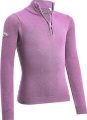 Callaway Youth 1/4 Zip Junior Sweater Lilac Chiffon