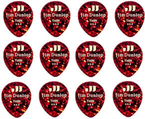 Dunlop 485P-05TH Celluloid Teardrop Shell Thin Player's Pack