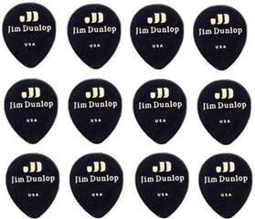 Dunlop 485P-03TH Celluloid Teardrop Black Thin Player's Pack