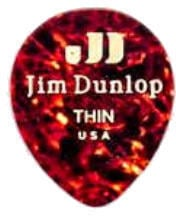 Dunlop 485R-05TH Celluloid Teardrop Shell Thin
