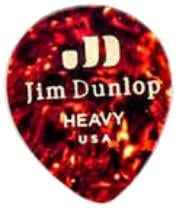Dunlop 485R-05HV Celluloid Teardrop Shell Heavy