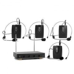 Auna VHF-4 V2 Wireless Microphone Set 4 Headset