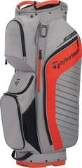 Taylormade Cart Lite Cart Bag Grey/Dark Blood Orange 2020
