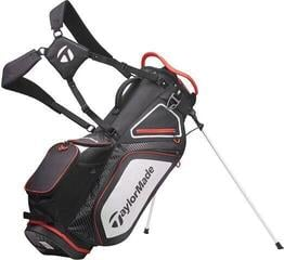 TaylorMade Pro Stand 8.0 Stand Bag Black/White/Red 2020