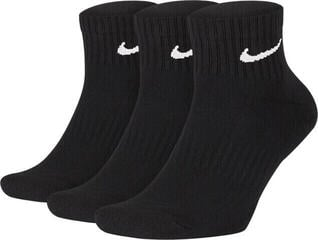 Nike Everyday Cushioned Ankle Socks (3 Pair) Black/White S