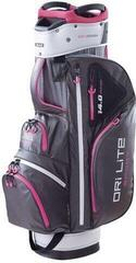 Big Max Dri Lite Sport Cart Bag Charcoal/Silver/Fuchsia