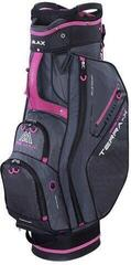 Big Max Terra X Cart Bag Charcoal/Black/Fuchsia