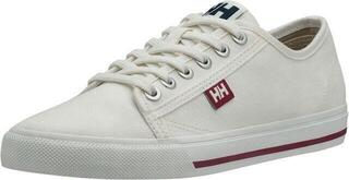 Helly Hansen W Fjord Canvas Shoe V2 Off White/Beet Red/Navy