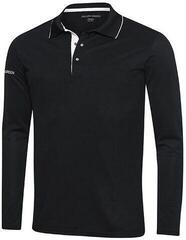 Galvin Green Marc Ventil8+ Mens Long Sleeve Polo Shirt Black/White