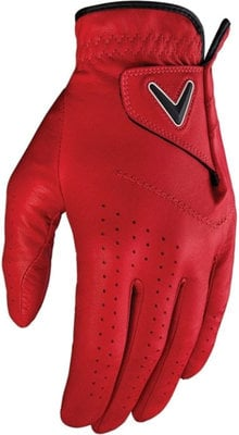 Callaway Opti Color Mens Golf Glove Cardinal Red Left Hand for Right Handed Golfers M