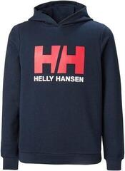 Helly Hansen JR Logo Hoodie Navy