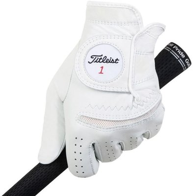 Titleist Permasoft Mens Golf Glove 2020 Left Hand for Right Handed Golfers White ML
