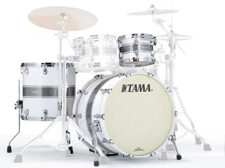 Tama Starclassic Maple Jazz Silver Snow Racing Stripe Chrome HW
