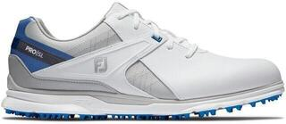 Footjoy Pro SL Męskie Buty Do Golfa White/Grey/Blue