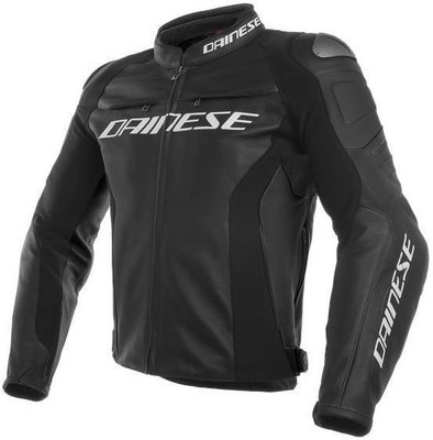 Dainese Racing 3 Leather Jacket Black/Black/Black 52