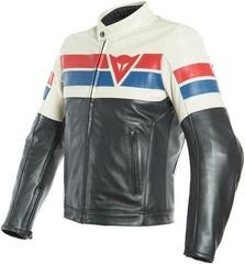 Dainese 8-Track Leather Jacket Black/Ice/Red