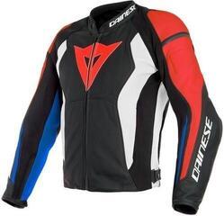 Dainese Nexus Leather Jacket Black/Lava Red/White/Blue