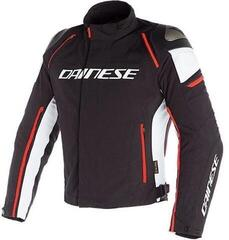 Dainese Racing 3 D-Dry Jacket Black/White/Fluo Red