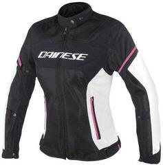 Dainese Air Frame D1 Lady Tex Jacket Black/Vaporous Gray/Fuxia