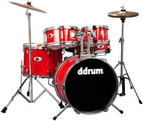 DDRUM D1 Junior Drum Set 5pc - Candy Red