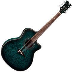 Dean Guitars Exotica Quilt Ash A/E - Trans Blue Satin