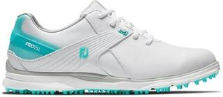 Footjoy Pro SL Womens Golf Shoes White/Aqua