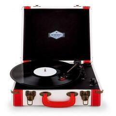 Auna Jerry Lee Retro Record Player Turntable LP USB White