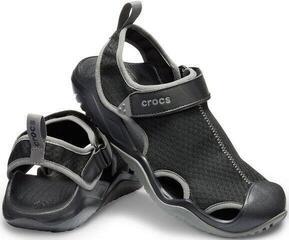 Crocs Men's Swiftwater Mesh Deck Sandal Black