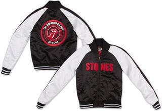 The Rolling Stones Satin Men Varsity Jacket S