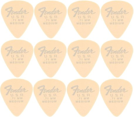 Fender 351 Dura-Tone .71 Olympic White 12 Pack